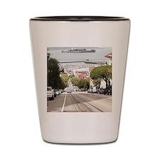 Alcatraz prison viewed from San Francis Shot Glass