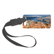 an elevated view of the city of  Luggage Tag