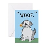 Dog Thank You Card: Woof. (Pk of 10)