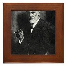Sigmund Freud, Austrian psychologist Framed Tile