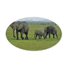 mara elephant family kenya c Wall Decal