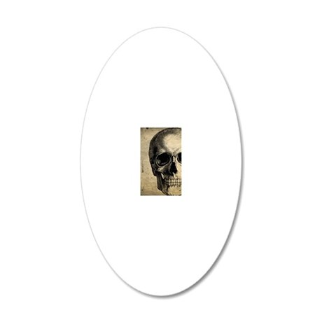 Vintage Skull 20x12 Oval Wall Decal
