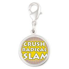 Crush Radical Islam Silver Round Charm