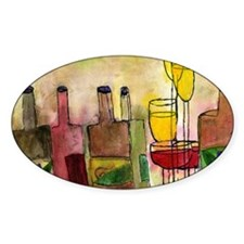 Tuscany wine art Decal