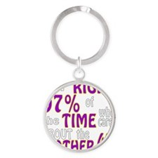 Im Right 97% Of The Time Who Cares  Round Keychain