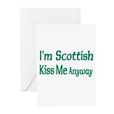 I'm Scottish, Kiss Me Anyways Greeting Cards (Pack