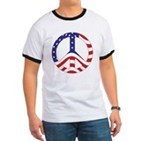 Patriotic Peace Sign T