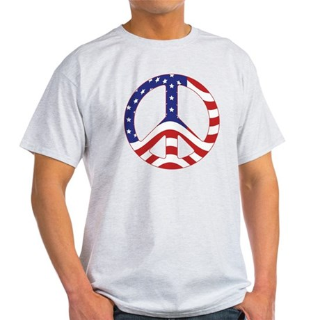 Patriotic Peace Sign Light T-Shirt