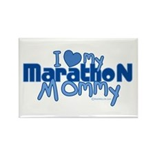 I Love My Marathon Mommy Rectangle Magnet