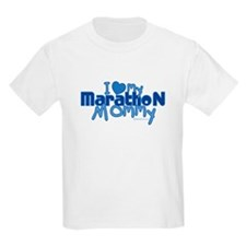 I Love My Marathon Mommy Kids T-Shirt