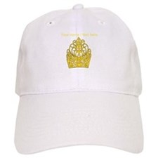 Custom Gold Crown Baseball Baseball Cap