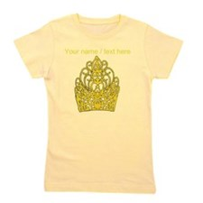 Custom Gold Crown Girl's Tee