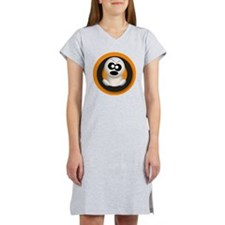 Cute Angry Ghost Orange Women's Nightshirt