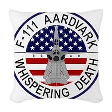 F-111 Aardvark - Whispering De Woven Throw Pillow
