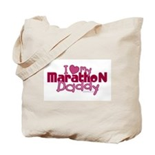 I Love My Marathon Daddy Tote Bag