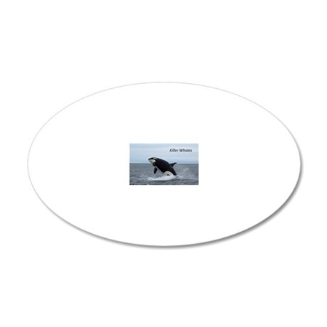 Killer Whales 20x12 Oval Wall Decal