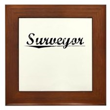 Surveyor, Vintage Framed Tile