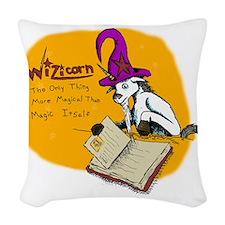 Wizicorn Woven Throw Pillow