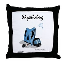 Skydiving Equiptment and Gear Throw Pillow