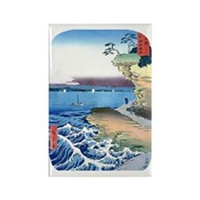 Hiroshige-Fuji- Bluffs Ocean View Rectangle Magnet