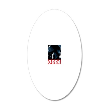OODA Blue w/Red 20x12 Oval Wall Decal