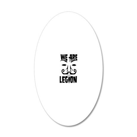 WE ARE LEGION 20x12 Oval Wall Decal