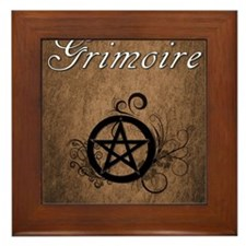 Pagan Grimoire Framed Tile