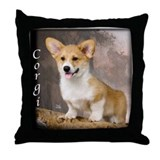 Pembroke Welsh Corgi Puppy Throw Pillow