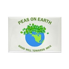 Peas on Earth Rectangle Magnet (100 pack)