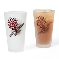 Zombie Hunters United Drinking Glass