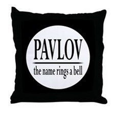 pavlovbutton Throw Pillow