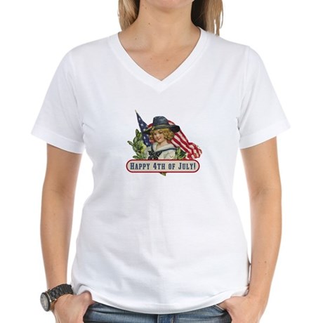 Happy 4th Of July Women's V-Neck T-Shirt