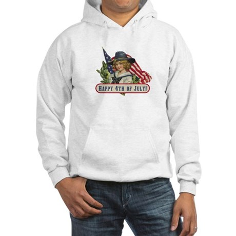 Happy 4th Of July Hooded Sweatshirt