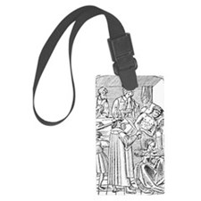 15th century woodcut showing pla Luggage Tag
