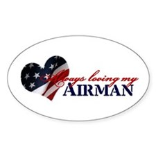 Always loving my airman Oval Decal
