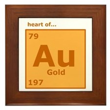 Heart of Gold Framed Tile