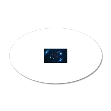 Artwork of various galaxies  20x12 Oval Wall Decal