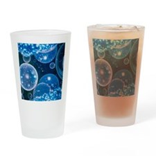 Artwork of bubble universes Drinking Glass