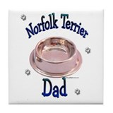 Norfolk Terrier Dad Tile Coaster