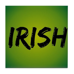 Irish Handwriting Tile Coaster