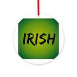 Irish Handwriting Ornament (Round)