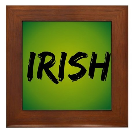 Irish Handwriting Framed Tile