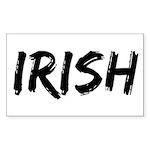 Irish Handwriting Rectangle Sticker