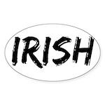 Irish Handwriting Oval Sticker