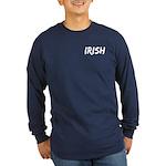 Irish Handwriting Long Sleeve Dark T-Shirt