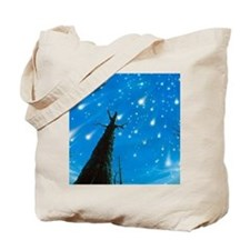 Artwork of a meteor shower Tote Bag