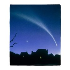 Artwork of a comet Throw Blanket