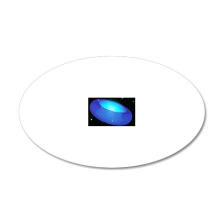 Arwork of a toroidal shaped  20x12 Oval Wall Decal