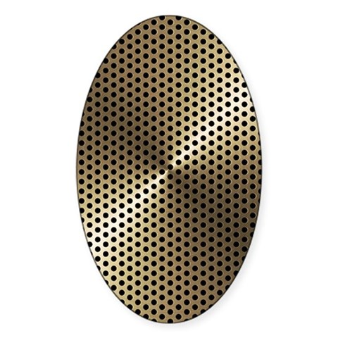 Gold Metal Plate Decal