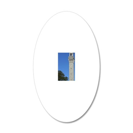 Pilgrim Monument 20x12 Oval Wall Decal